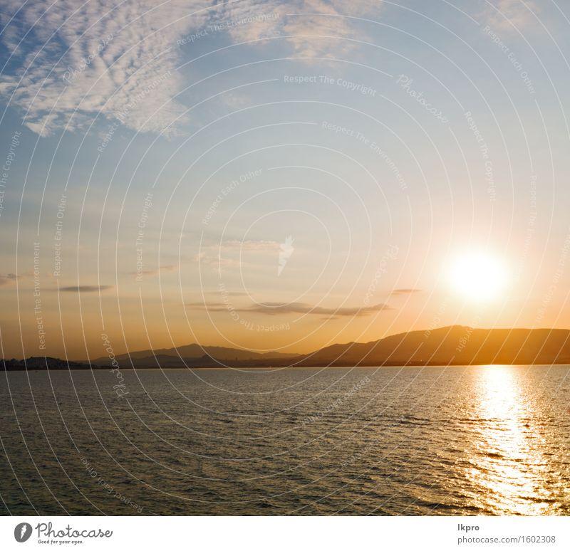 das Himmelmeer Mittelmeerrotes Meer Natur Ferien & Urlaub & Reisen Sommer Farbe weiß Sonne Landschaft ruhig Wolken schwarz gelb Küste Horizont