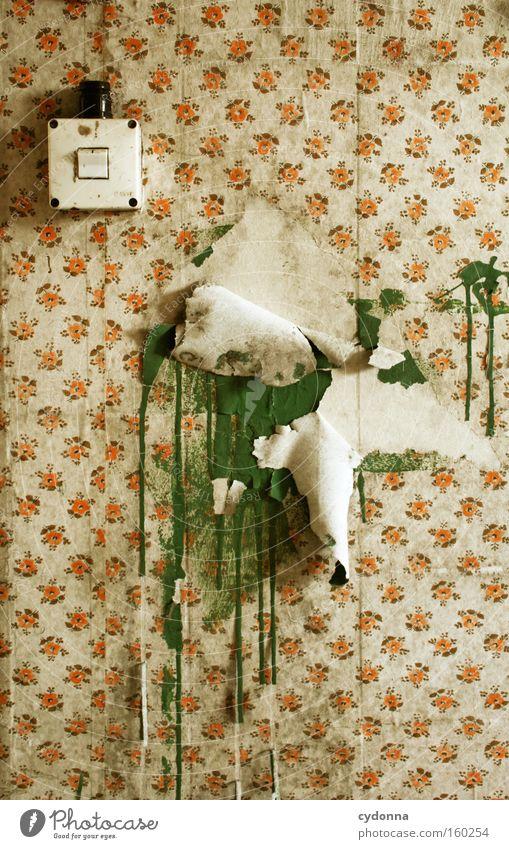 [Weimar09] Künstlerhände alt Farbe Leben Wand Raum Zeit retro Dekoration & Verzierung Vergänglichkeit Tapete verfallen Verfall Schalter Zerstörung Erinnerung