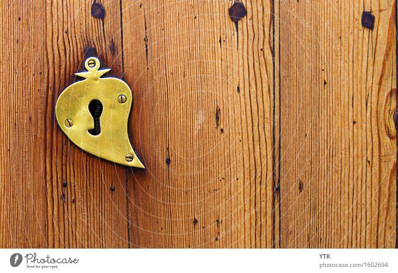 Key to my Heart! Technik & Technologie Umwelt Haus Gebäude Architektur Tür Sammlung Zeichen Schloss Schlüssel Sicherheit Beschläge Herz herzförmig Holz Maserung