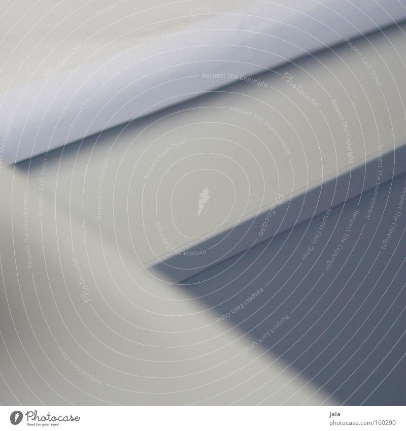 drauf und drunter weiß grau Linie Ecke Grafik u. Illustration Geometrie sehr wenige reduziert