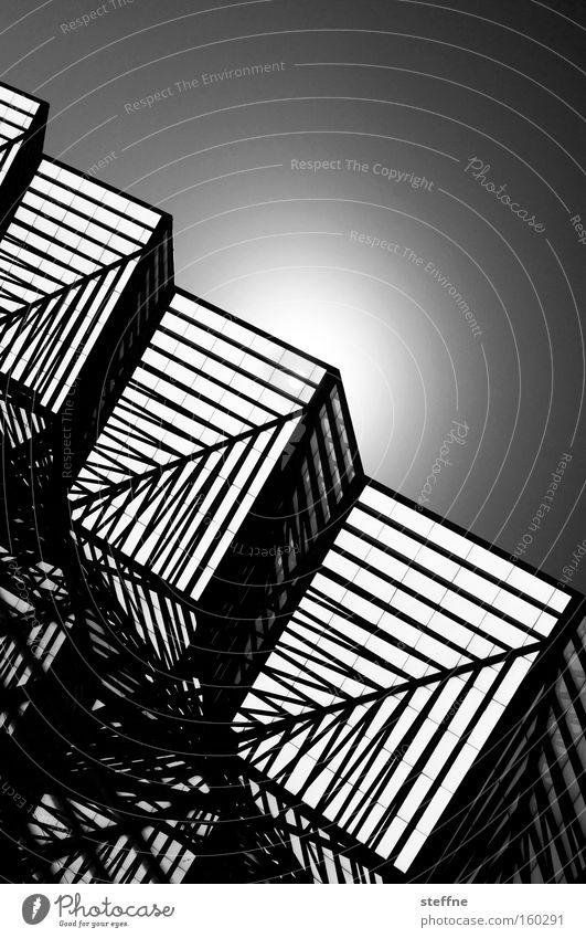 geometrix weiß Sonne schwarz Linie Ecke Geometrie schick Würfel dreidimensional Kubismus