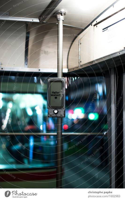Haltewunsch? Verkehr Verkehrsmittel Öffentlicher Personennahverkehr Schienenverkehr Bahnfahren U-Bahn Straßenbahn Schienenfahrzeug historisch drücken stoppen
