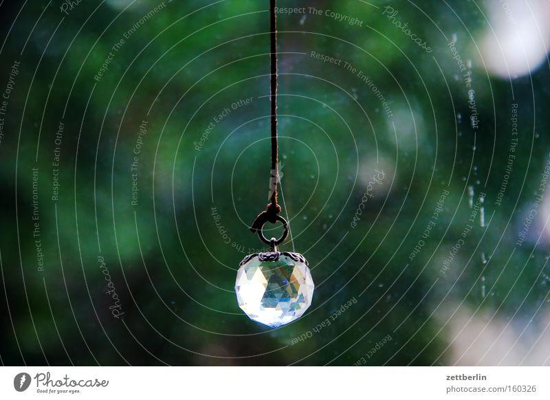 Kristall Kugel Schmuck Modeschmuck Dekoration & Verzierung Hintergrundbild Zierde hängen Baum grün Detailaufnahme Stein Mineralien Kristallstrukturen