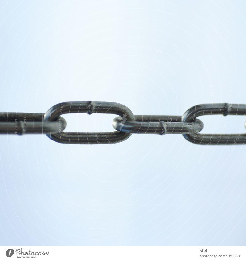 verbindung Kraft Sicherheit Netzwerk Zusammenhalt stark Stahl Gesellschaft (Soziologie) Kette Eisen Verbundenheit massiv Einigkeit robust Kettenglied rostfrei