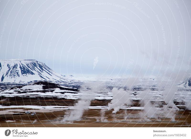 vorsicht. Himmel Natur Ferien & Urlaub & Reisen Landschaft Ferne Winter Umwelt Wärme Schnee Freiheit Sand Tourismus Eis Luft Erde Ausflug