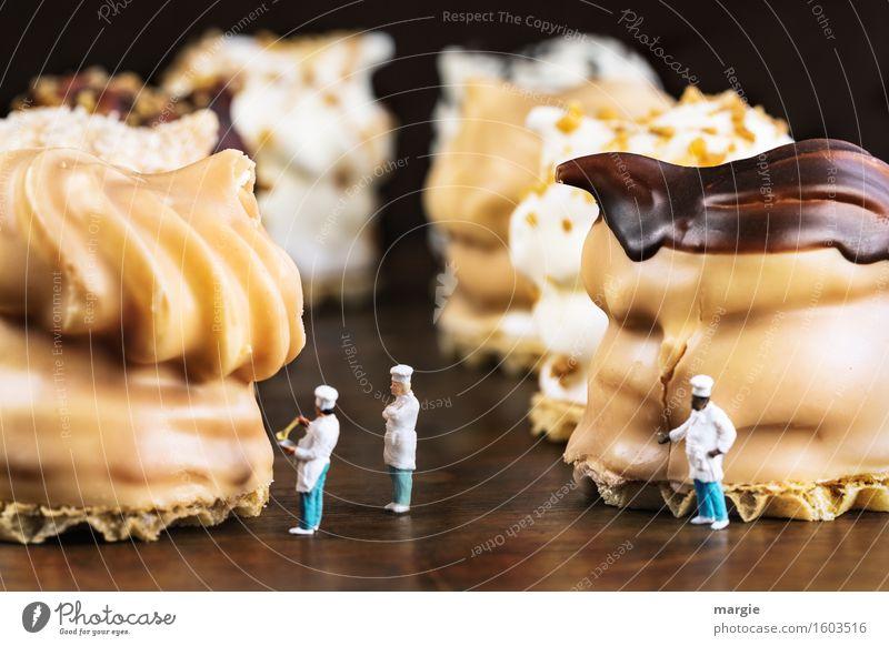 Miniwelten - Schokokuss Verkostung Essen Lebensmittel braun Ernährung Süßwaren Dessert Schokolade