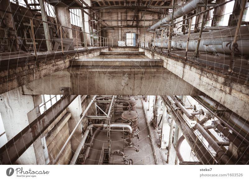 Espenhain Beton Vergänglichkeit Wandel & Veränderung Vergangenheit Fabrik Verfall Röhren Ruine Industrieanlage Fabrikhalle Produktionsstätte Industrieruine