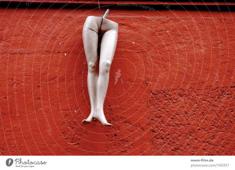 halbiert rumhängen rot Erholung Beine Teilung Puppe Spielzeug Schaufensterpuppe Torso Unterleib