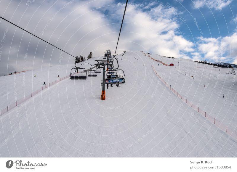 Lift Freizeit & Hobby Ferien & Urlaub & Reisen Tourismus Ausflug Winter Schnee Winterurlaub Skifahren Snowboard Himmel Wolken Schönes Wetter Hügel
