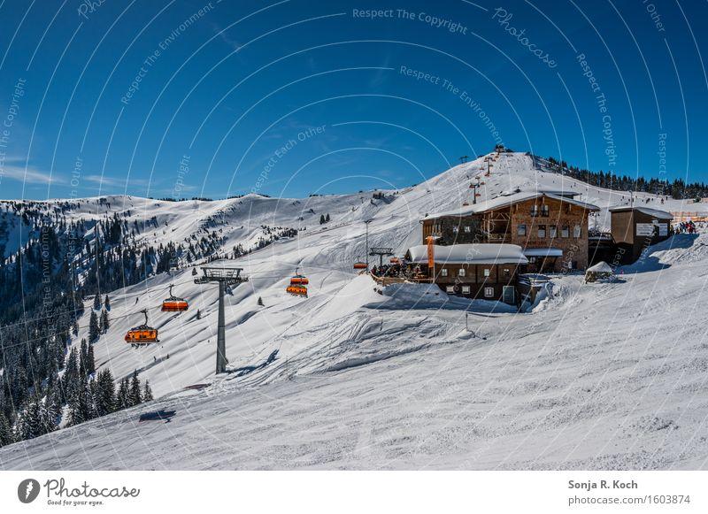 Skihütte Ferien & Urlaub & Reisen Tourismus Ausflug Ferne Freiheit Winter Schnee Winterurlaub Berge u. Gebirge Wintersport Skifahren Himmel Hügel Gipfel