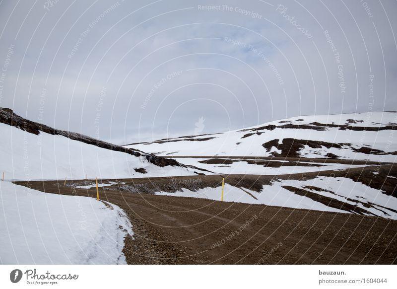 auf geht's. Himmel Natur Ferien & Urlaub & Reisen Landschaft Wolken Ferne Winter Berge u. Gebirge kalt Umwelt Straße Wege & Pfade Schnee Freiheit Sand Tourismus