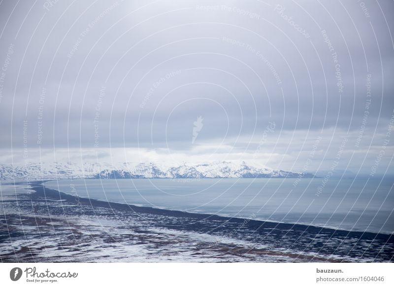buchter. Natur Ferien & Urlaub & Reisen schön Wasser Meer Landschaft Wolken Ferne Winter kalt Umwelt Schnee Küste Freiheit Tourismus träumen