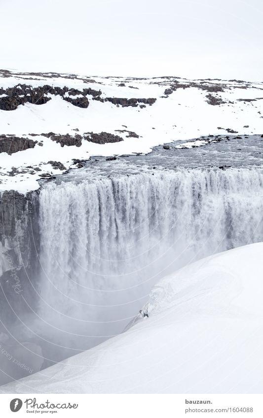dettifoss. Ferien & Urlaub & Reisen Tourismus Ausflug Abenteuer Ferne Freiheit Sightseeing Expedition Winter Schnee Winterurlaub Umwelt Natur Landschaft