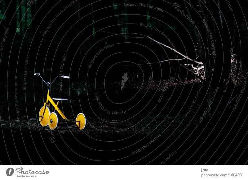 Dreirad - subtile Gefahr 1 Nacht Gewalt Monster gefährlich unheimlich dunkel Trauer ungewiss Schrecken Geäst Schwäche spukhaft Kindheit