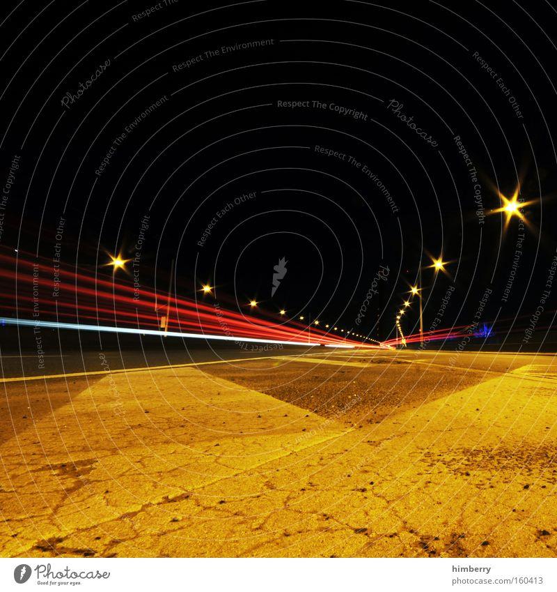 speed of night Verkehr Geschwindigkeit Straße Güterverkehr & Logistik Beleuchtung Licht Autobahn Rennsport Motorsport Straßenbeleuchtung fahren
