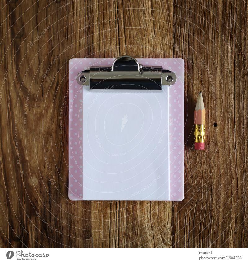 MiniNachricht Holz klein Stimmung Schilder & Markierungen Schriftzeichen süß Papier Zeichen Information Zettel Bleistift Aufgabe
