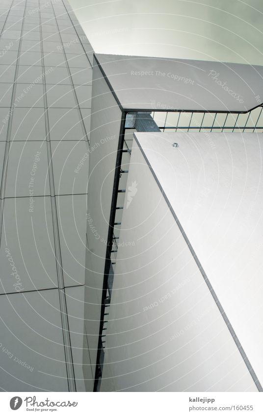 -> Himmel Wand Linie Architektur Hochhaus Buchstaben Pfeil Richtung Grafik u. Illustration diagonal Plattenbau Lateinisches Alphabet