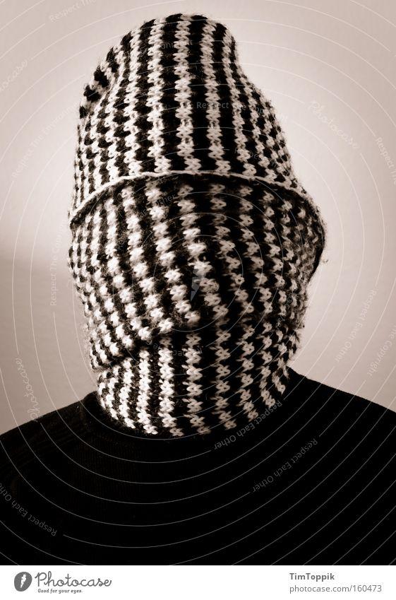 Mein zweites Self Mann geheimnisvoll anonym Schal blind verborgen Terror Entführung vermummen vermummt unerkannt verhüllen kaschieren unkenntlich Geisel