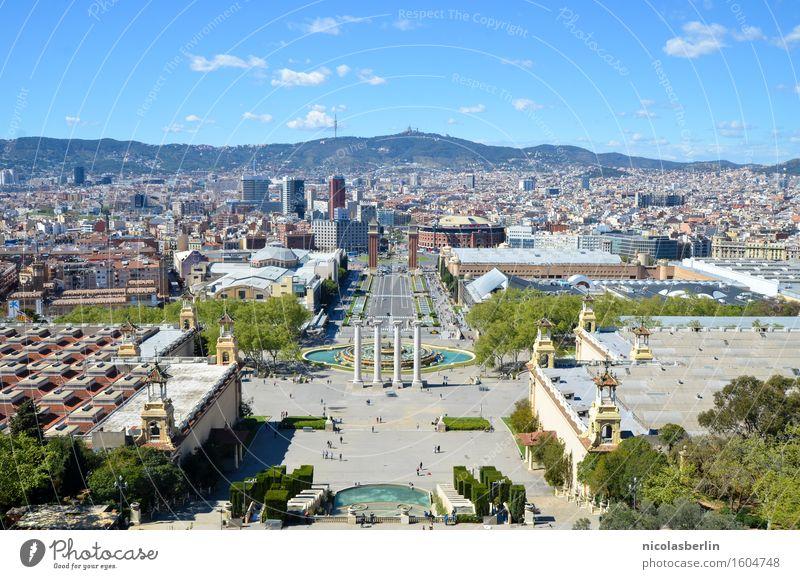Barcelona Himmel Ferien & Urlaub & Reisen Sommer Stadt schön Sonne Freude Ferne Wege & Pfade Stil Garten Tourismus Freiheit Ausflug Park elegant