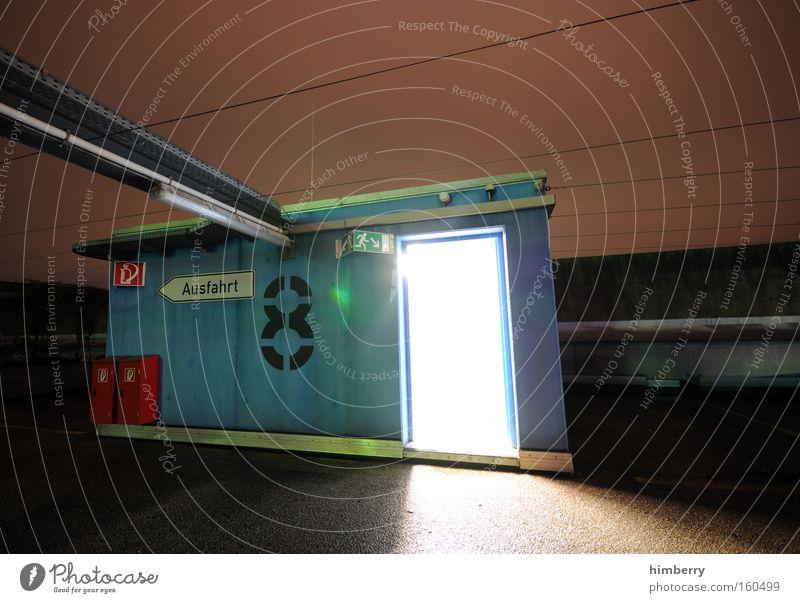 next life ahead Niveau 8 Tür Durchgang Eingang Notausgang Fluchtweg Ausgang Gebäude Industrie Langzeitbelichtung Science Fiction
