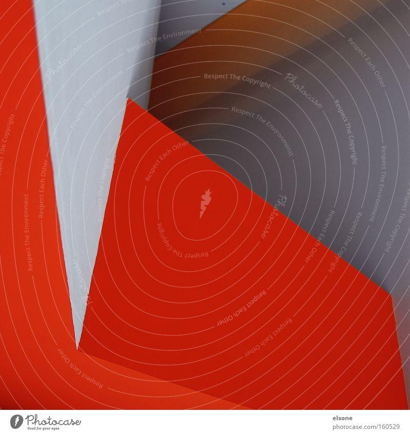 NEON GRUEN orange graphisch Grafik u. Illustration Strukturen & Formen Detailaufnahme abstrakt Linie rot weiß Innenarchitektur Architektur Wand kante dreieck