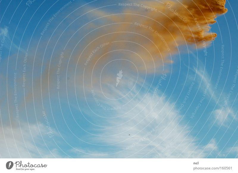 Sandsturm Himmel fliegen Sand Erde Wind fallen verfallen Sturm Momentaufnahme werfen wehen Staub Monster seicht Formation Verwirbelung