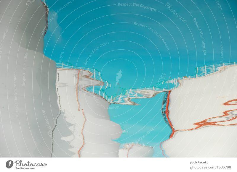liquid tanks Energiewirtschaft Industrie Wolkenloser Himmel Tank modern blau weiß beweglich Surrealismus Wandel & Veränderung Wege & Pfade Deformation