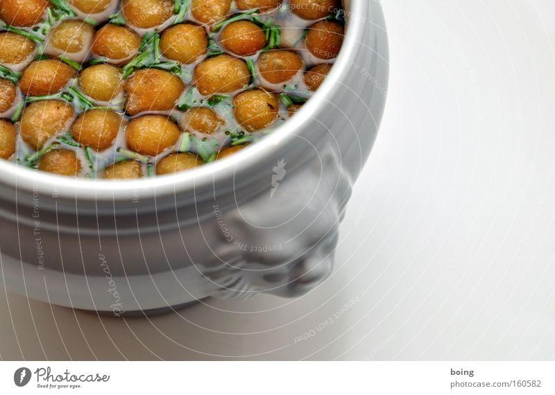 Löwensuppe mittelscharf Ernährung frisch Teller Gastronomie Kräuter & Gewürze Fleisch Suppe Lebensmittel Schnittlauch Eintopf Vorspeise Suppenteller Löwenkopf