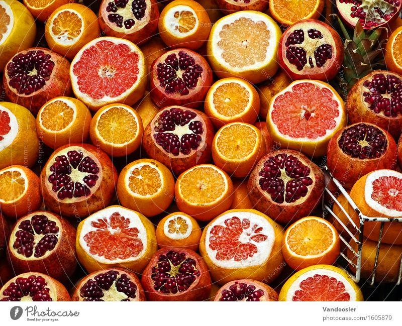 Frisch Lebensmittel Frucht Orange Grapefruit Granatapfel Ernährung Bioprodukte Slowfood Erfrischungsgetränk Saft kaufen Reichtum Gesundheit Gesunde Ernährung
