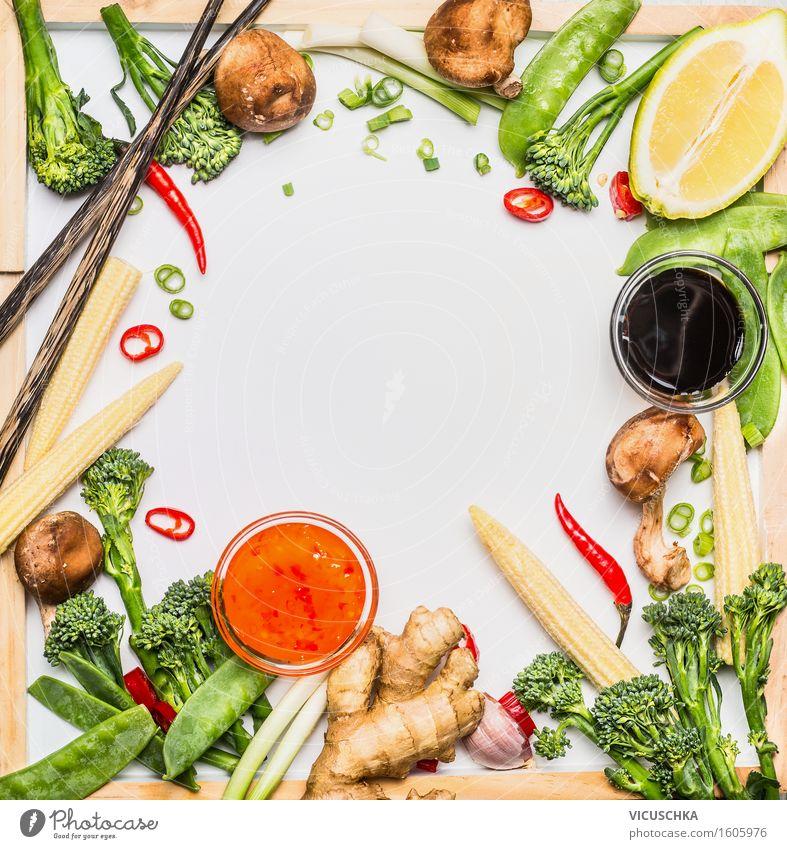 Traditionelle asiatische Gemüse Zutaten fürs Kochen Leben Stil Lebensmittel Party Gesundheitswesen Design Tisch Kochen & Garen & Backen Kräuter & Gewürze Küche