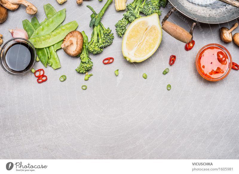 Gemüse Zutaten für Asiatische Küche Gesunde Ernährung Leben Speise Foodfotografie Stil Lebensmittel Design Tisch Kräuter & Gewürze Bioprodukte Restaurant