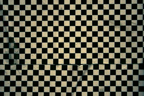 Fotonummer 115327 schwarz weiß Quadrat Strukturen & Formen Muster Anordnung graphisch Hintergrundbild kariert Tapete Wand Dekoration & Verzierung Abwechselnd