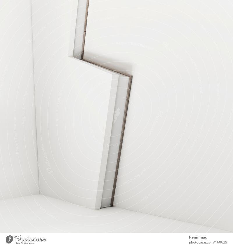 Blitzdetail. schön weiß ruhig Wand Holz Linie hell braun Raum Architektur Design Ecke weich Dekoration & Verzierung Häusliches Leben