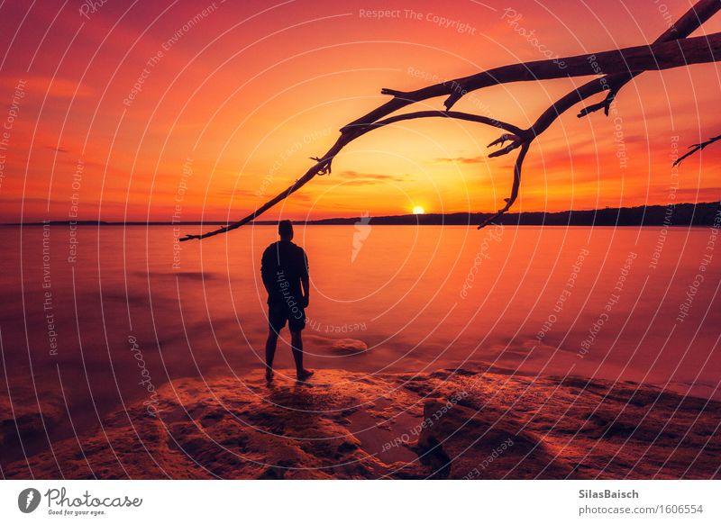 Sonnenaufgang im Paradies Lifestyle Ferien & Urlaub & Reisen Tourismus Ausflug Abenteuer Ferne Freiheit Safari Expedition Camping Sommer Sommerurlaub Meer