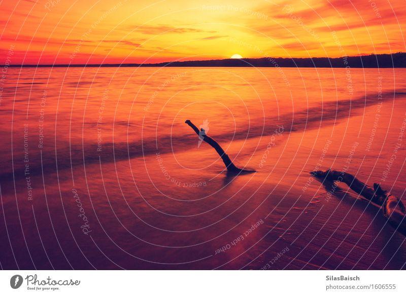 Ein weiterer Sonnenaufgang im Paradies Ferien & Urlaub & Reisen Sommer Farbe Wasser Meer Ferne Strand Küste Lifestyle Gesundheit Freiheit Tourismus Wellen