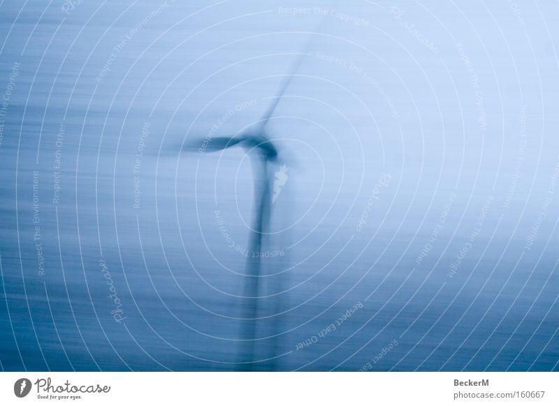 Wind-Rad Windkraftanlage Sturm Technik & Technologie grau Geschwindigkeit Tragfläche Rotor Triebwerke Querformat Industrie Elektrisches Gerät Grünstrom