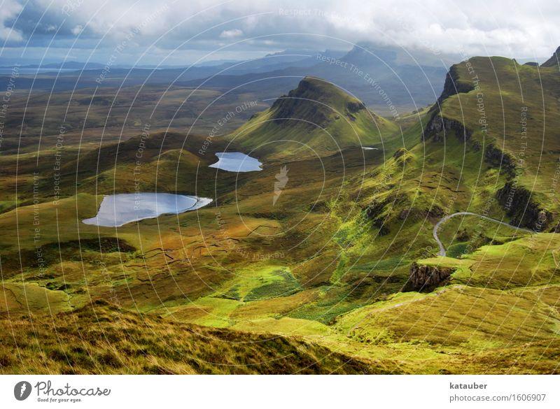 nature is beautiful Landschaft Erde Wolken Hügel Felsen See entdecken Erholung genießen Ferien & Urlaub & Reisen wandern ästhetisch außergewöhnlich grün