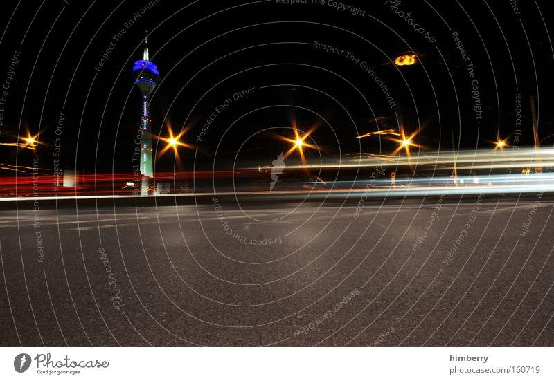 from disco to disco Stadt Straße Beleuchtung Berlin Verkehr Geschwindigkeit Güterverkehr & Logistik Turm Autobahn Rennsport Verkehrswege Düsseldorf Straßenbeleuchtung Berliner Fernsehturm