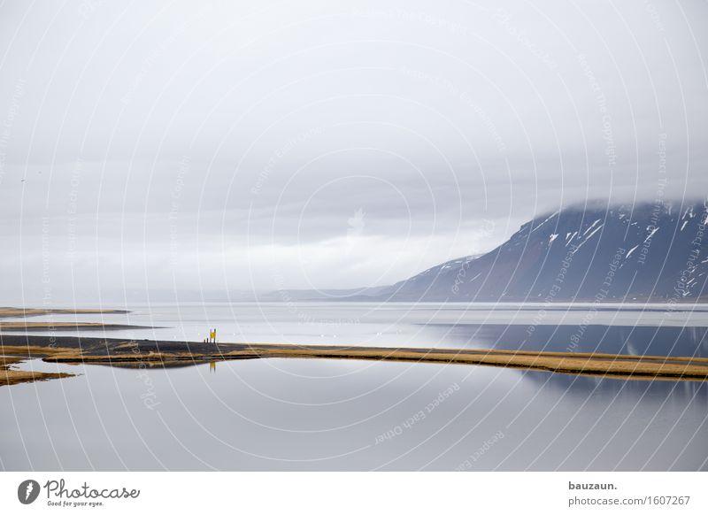 steg. Natur Ferien & Urlaub & Reisen Wasser Landschaft Einsamkeit Wolken Ferne Winter Umwelt Freiheit Horizont Tourismus Wetter Nebel Eis Erde