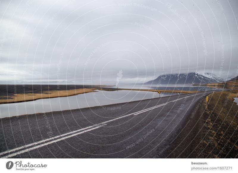 straße. Natur Ferien & Urlaub & Reisen Wasser Meer Landschaft Wolken Ferne Winter Berge u. Gebirge Umwelt Straße Wege & Pfade Freiheit Tourismus Wetter Nebel