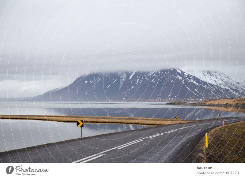 meer. Natur Ferien & Urlaub & Reisen Wasser Meer Landschaft Wolken Ferne Winter Berge u. Gebirge Umwelt Straße Schnee Küste Freiheit Tourismus Wetter