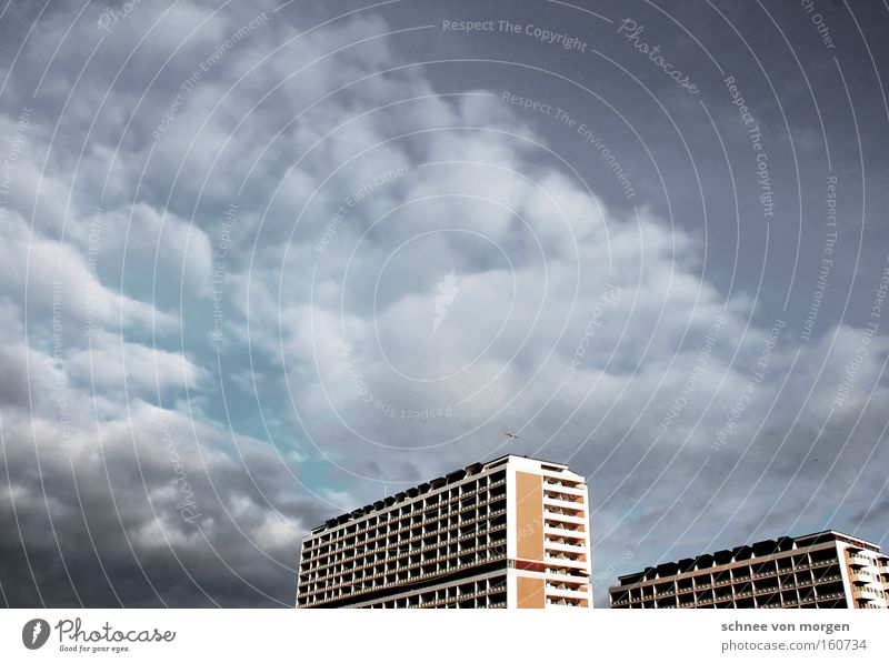 kastenförmig Himmel Strand Haus Architektur Wohnung Hochhaus Baustelle Balkon Sylt