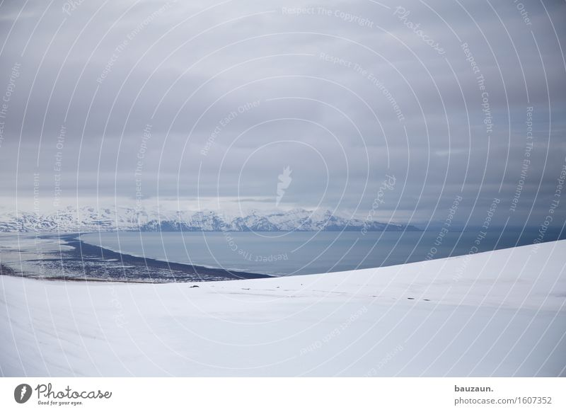 bucht. Ferien & Urlaub & Reisen Tourismus Ausflug Abenteuer Ferne Freiheit Expedition Winter Schnee Winterurlaub Umwelt Natur Landschaft Erde Wasser Wolken