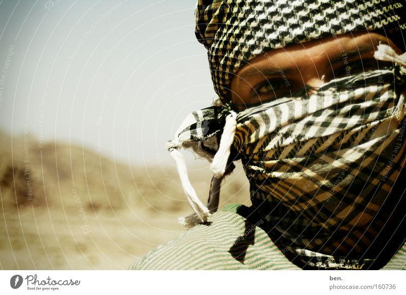 Sinai Gesicht Auge Kultur Ägypten Wüste Afrika Schal verpackt Staub Mundschutz Islam Naher und Mittlerer Osten vermummt vermummen Asien Sinai-Berg