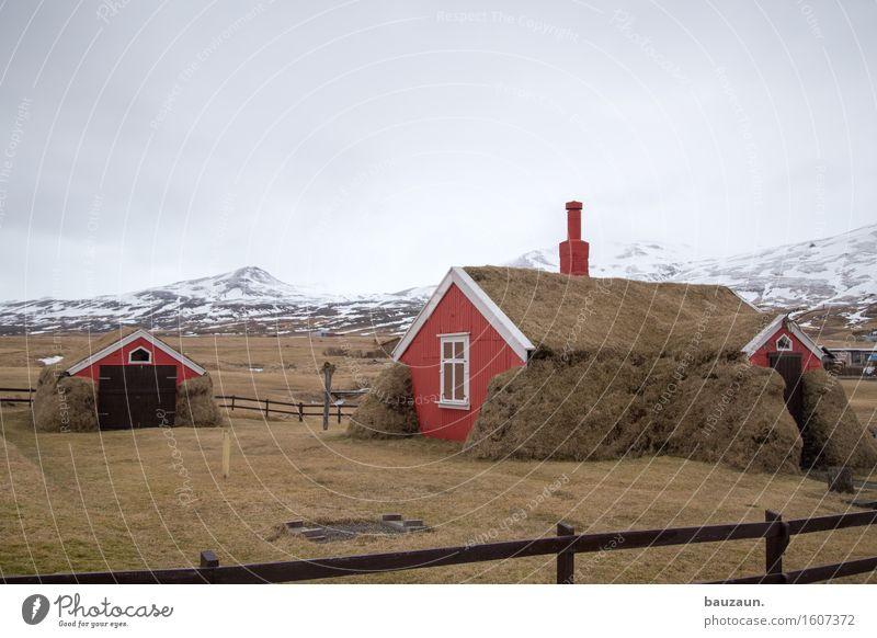 wieder da. Natur Ferien & Urlaub & Reisen Landschaft Wolken Haus Ferne Winter Fenster Berge u. Gebirge Umwelt Wand Gras Schnee Mauer Garten Freiheit