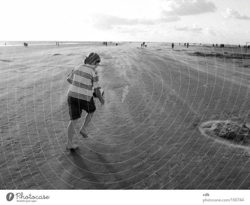 Ballfänger Ferien & Urlaub & Reisen Sommer Strand Freude Erholung Landschaft Spielen Bewegung Freizeit & Hobby laufen