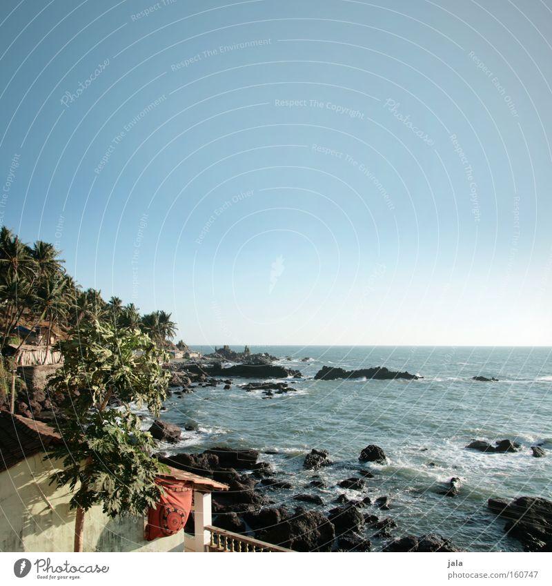 Cliffside House Himmel Meer Ferien & Urlaub & Reisen Haus Erholung Stein Felsen Aussicht Gastronomie Indien Palme Brandung Felsvorsprung Ferienwohnung