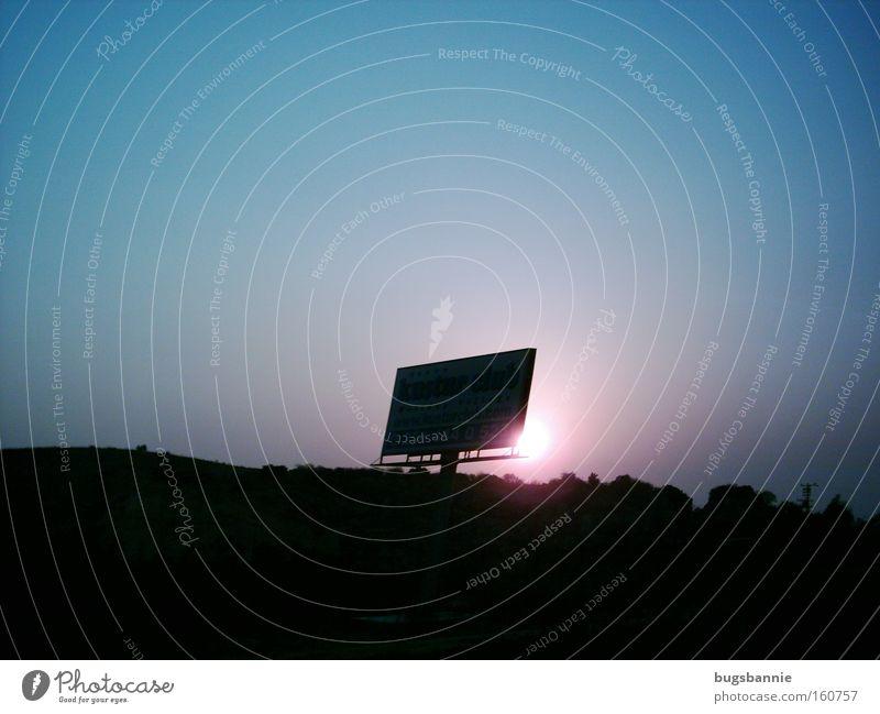 Sunset Sonnenuntergang Schilder & Markierungen blau violett Berge u. Gebirge Türkei Sonnenaufgang Tag Himmelskörper & Weltall