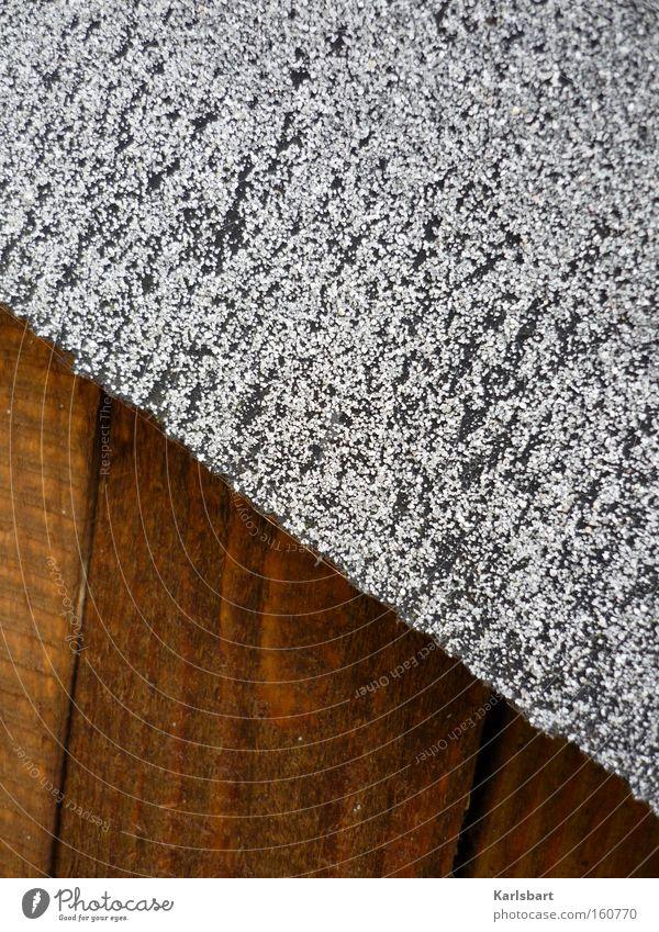 graurock. Design schön Haus Arbeit & Erwerbstätigkeit Handwerk Hütte Rock Holz bauen braun weiß Holzbrett Schneidebrett Teer Geometrie Teile u. Stücke Korn Wand