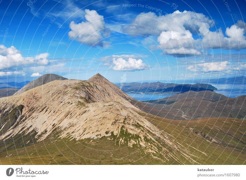 schottland von seiner schönsten seite Landschaft Himmel Wolken Sommer Schönes Wetter Berge u. Gebirge Gipfel Blick wandern ästhetisch außergewöhnlich Euphorie